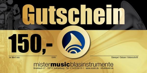 MISTER MUSIC Geschenkgutschein über 150,- €