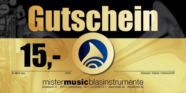 MISTER MUSIC Geschenkgutschein über 15,- €