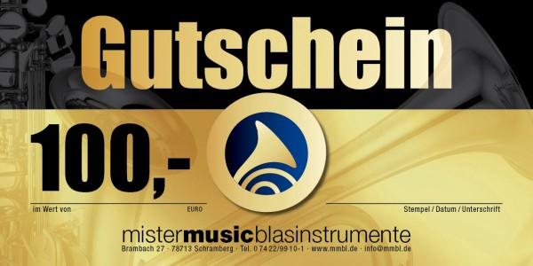 MISTER MUSIC Geschenkgutschein über 100,- €